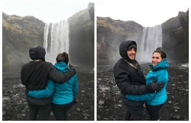 skogafoss-couplephoto